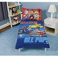 Paw Patrol 狗狗巡逻队 Skye 幼儿床套装 We're A Team Blue, All Pups 4 Piece Bed Set