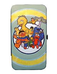 "Sesame Street ""All the Gang""浅蓝色复古风格铰链式钱包"