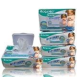 (5包500抽免运费) BOCOSO 邦可士新生婴幼儿湿巾带盖5联包/10联包装(100抽/包) 儿童宝宝婴儿手口湿纸巾防红屁屁 (5包装)