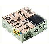 folia 印章组每个木制印章和墨盒 PAD