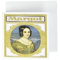 BLN 复古雪茄和 cigarette 标签和 advertisments–vintage margot 雪茄标签–贺卡