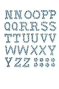 GLOREX P 和 D 字母 13 毫米 自粘,塑料 H'blau 14.5 x 8.6 x 0.2 cm 6 1242 321