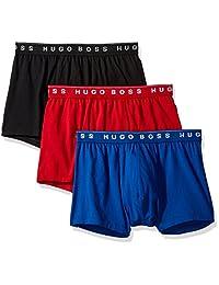 HUGO BOSS 雨果·博斯 男士棉质平角裤 3件装