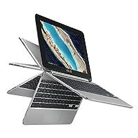 ASUS Chromebook Flip 对开式 黑色C101PA-DB02  16GB eMMC 存储器 4-10.99 inches