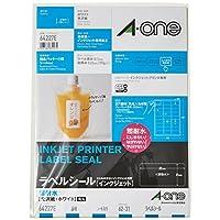 A-one 艾文 标签贴 喷墨印刷 防水光泽纸 3・27面(62×31mm)