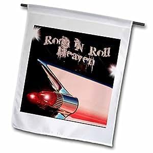 dezine 01音乐–ROCK N ROLL HEAVEN–旗帜 12 x 18 inch Garden Flag
