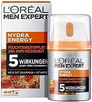L'Oréal Paris 巴黎欧莱雅 Men Expert Hydra Energy 保湿滋润,*/正常男士皮肤,抗*,维生素C和瓜拉娜(1 x 5