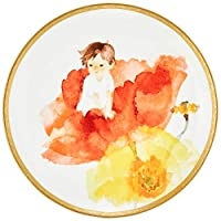 Narumi 鸣海 日本骨瓷 餐盘 礼品 装饰盘摆件 岩崎千尋2018年 イヤーズプレート (盛开的罂粟丛中的宝宝) 21cm
