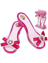 Fedio 女孩公主装扮鞋 4 双角色扮演系列游戏鞋套装适合 3-6 岁女童