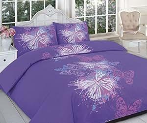 68张聚酯棉被套 蝴蝶紫色 Double