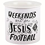 Carson Ceramic Dip Chiller (Jesus & Football)