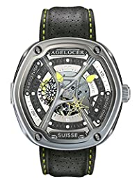 agelocer 艾戈勒 瑞士原装进口手表 阿凡达系列 男士时尚创意镂空全自动机械表 夜光运动潮表 时尚男士机械手表 运动男士夜光机械表 24小时指示男士机械表 (5302A1-2)