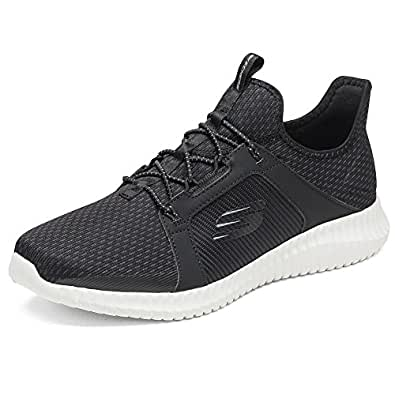 Skechers 斯凯奇 SKECHERS SPORT系列 男 橡筋一脚蹬运动鞋 52640-BKW 黑色 43 (US 10)