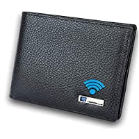 Smart LB 智能防丢失钱包带闹钟,GPS 跟踪,蓝牙,双折牛皮钱包,男女皆宜