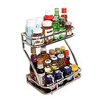 宝优妮 厨房调料架置物架不锈钢用品储物架子2层用具调味料收纳架 DQ-ZWJ02(供应商直送)
