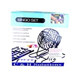 C&H Solutions Big Cage Deluxe Bingo Set, Complete Bingo Game Set, Rotary Cage With Automatic Bingo Set By