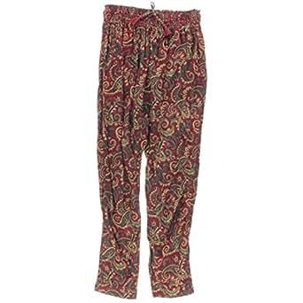 Denim & Supply Ralph Lauren 女式印花宽松哈伦裤红色 M 码