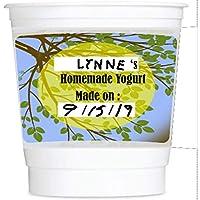 Yo-green 8 盎司可重复使用酸奶杯带记号笔和擦拭解决方案:7 件装