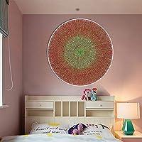岸朵卧室餐厅挂画儿童房床头画卫生间壁画客厅装饰画圆形包边无框蒲团 (50 * 50CM)
