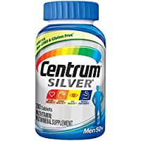 Centrum Silver 多维生素补充剂, PFIZER376996, 200 Count, 银色, 1, 1