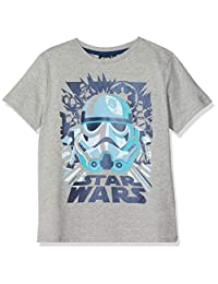 Disney 星球大战男孩蓝色风暴龙者 T 恤,(麻灰色)