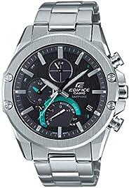 Casio 卡西欧 男式 Edifice 连接手表 不锈钢表带 银色 21.9 (型号:EQB-1000D-1ACF)