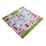 小助手3d 儿童游戏地垫中的夏季房屋设计,多色 ( 100X 100CM )