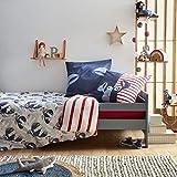 Catimini Créative Côtier Kawaii Escapade 床上用品套装140 x 200厘米,棉,蓝色/红色/白色,140 x 200 + 65 x 65厘米