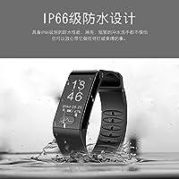 Rorsche 智能心电图手环,心电图ECG+PPG血压心率智能手环运动血压心率手环,医疗级心电图监测功能0.96寸大屏高亮OLED 时尚运动健康手环 运动计步 时尚外观 T6 (黑色)