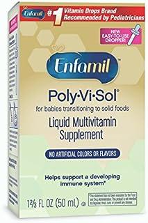 Enfamil 美赞臣 Poly-Vi-Sol 宝宝维生素滴剂 多种维生素补充剂 50毫升(2瓶装)