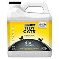 Tidy Cats Cat Litter, Clumping, 4-in-1 Strength, 14-Pound Jug, Pack of 3