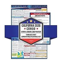 2020 加利福尼亚州和联邦劳动法海报 - 符合 OSHA 工作场所标准 60.96 厘米 x 91.44 厘米 - 一体化邮寄 - 层压 State Labor Poster + Coronavirus Act 蓝色