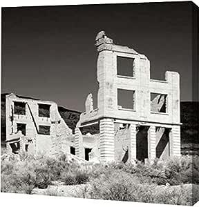 "PrintArt GW-POD-11-PSTLR-316-24x24""Rhyolite Ruin I BW"" 由 Douglas Taylor 创作画廊装裱油画艺术印刷品,60.96 厘米 X 60.96 厘米"