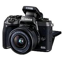 佳能Canon EOS M5 套机 微单相机 自拍高清数码相机 (官方标配, 镜头:EF-M 15-45mm IS STM)附送Aisying相机包+钢化膜