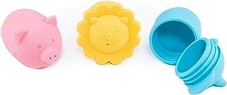 Pop Squirt 硅胶耐模塑浴室玩具(3 件)带储物袋
