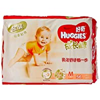 HUGGIES 好奇 金装成长裤小内裤式纸尿裤 男女通用 M56片