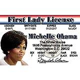 Signs 4 Fun NPID44W Michelle Obama 司机许可证