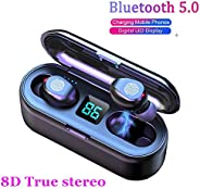 2020 Upgraded Bluetooth Earbuds,AEDILYS 5.0 Earbuds with 2000mAh Charging Case LED Battery Display 60H Playtim