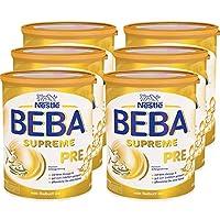 Nestlé BEBA雀巢貝巴 SUPREME Pre段初始嬰兒奶粉:適合新生兒 即沖即飲 富含Omega 3 ,6罐裝 (6 x 800g)(不含助溶劑,沖泡需用力搖,沖后有結晶非品質問題,請放心食用)