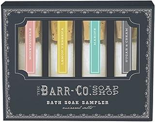 Barr-Co 沐浴浸泡取样器。 包括一盎司的金银、海洋、柠檬马鞭、糖和奶油