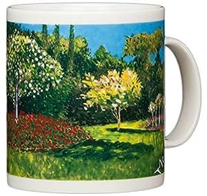Chaleur Masters 系列咖啡马克杯特色是Van Gogh、Monet 和其他大师著名的艺术作品 46 - Woman in Garden 14 盎司 050446