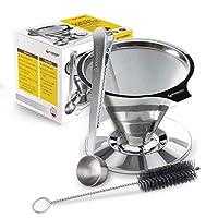 Housewares Solutions 不锈钢倾倒咖啡壶 + 附赠咖啡勺 内置袋夹