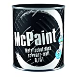 McPaint 金属保护漆用于内部和外部,有光泽,防水稀释,0.75 升,不同色调可供选择 黑色 0,750 L 1