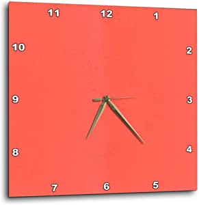 3dRose Hot Coral - Wall Clock, 10 by 10-Inch (dpp_44924_1)