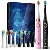 Sboly 电动牙刷 2 只装 成人和儿童用