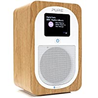 Pure Evoke H3 Portable Digital DAB/DAB+ and FM Radio with Bluetooth, Colour Screen, Alarm - Oak