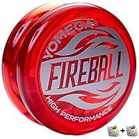 Yomega 消防球 - 专业反应式传动溜球,非常适合孩子和初学者,如专业人士一样演奏 + 额外 2 弦和 3 个月保修 红色