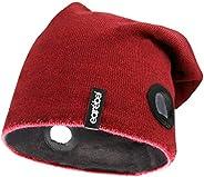 Earebel 蓝牙耳机超薄/街头无檐小便帽/超薄头带 - 无线耳机,可拆卸和可互换式耳罩式耳机,高保真立体声 - 内置麦克风 Slim Beanie