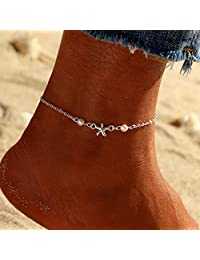 Nicute Boho 珍珠脚链海星脚踝手链夏季海滩*首饰适合女士和女孩