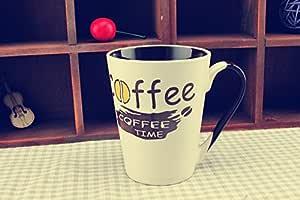 母亲节礼物,咖啡时间牛奶茶咖啡水杯婚礼礼物 带勺子 白色